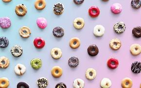 Picture donuts, dessert, glaze, donut