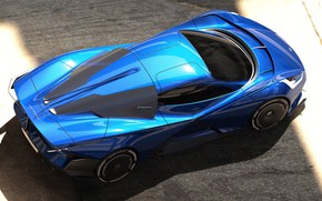 Picture Blue, auto, Supercar, drives, sports cars, Estrema Fulminea, électrique