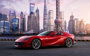Picture the city, Ferrari, Shanghai, Roadster, V12, GTS, 812, Ferrari 812 GTS, 12-цилиндров