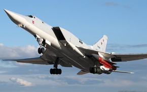Picture Tupolev, The Russian air force, Tu-22M3, with variable sweep wing, дальний сверхзвуковой ракетоносец-бомбардировщик