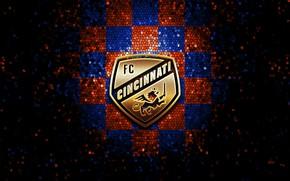 Picture wallpaper, sport, logo, football, Cincinnati, glitter, checkered, MLS