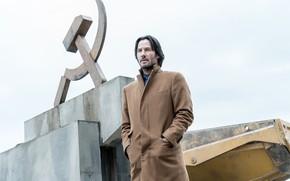 Picture look, male, coat, Keanu Reeves, siberia, Keanu Reeves