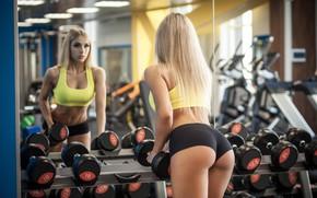 Wallpaper ass, model, Girl, fitness, Nastya Ferz, Stas Tolstnev