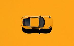 Picture Auto, Machine, Render, Porsche 911, The view from the top, Rendering, Supercar, Porsche 911 Carrera …