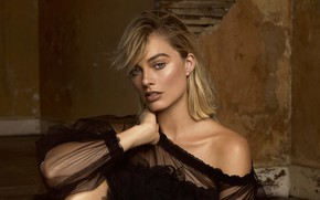 Picture look, girl, blouse, Margot Robbie