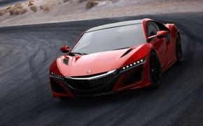 Picture Red, Auto, Machine, Honda, Rendering, NSX, Honda NSX, Transport, by Mikhail Nikolaev, Mikhail Nikolaev, Honda ...