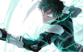 Picture look, hand, guy, Boku No Hero Academy, Midori Isuku, My heroic academia