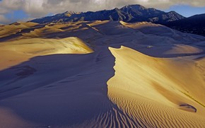 Picture mountains, desert, Colorado, USA, Great Sand Dunes National Park