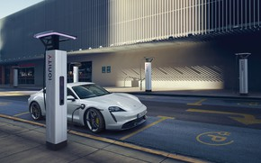 Picture Porsche, charging, Turbo S, 2020, Taycan