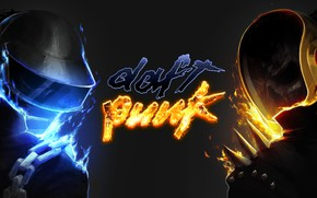 Picture Music, Fire, Style, Background, Daft Punk, Thomas Bangalter, Daft Punk, Mask, Guy Manuel de Homem …