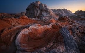 Picture nature, rocks, AZ, Utah, USA, White Pocket, a national Park Vermilion Cliffs