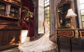 Picture girl, style, interior, dress, Asian, the room