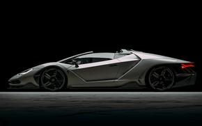 Picture Auto, Lamborghini, Machine, Supercar, Rendering, The front, Sports car, Side view, Lamborghini Centenary, Centennial, Transport …
