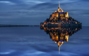 Picture landscape, nature, Mont Saint Michel