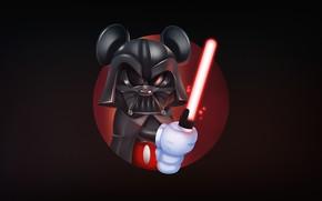 Wallpaper Darth Vader, Mickey Mouse, Vader, Mickey, Illustration, Dark side, Harvey Lanot, Mickeyvader, by Harvey Lanot
