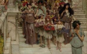 Picture Spring, Los Angeles, Los Angeles, Spring, Lawrence Alma-Tadema, Lawrence Alma-Tadema, 1894, British painter, British painter, …