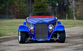 Picture Roadster, Ford, Car, Blue, 1932, Modifield