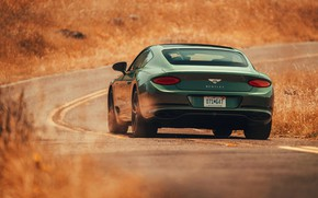 Picture road, coupe, Bentley, rear view, 2019, Continental GT V8