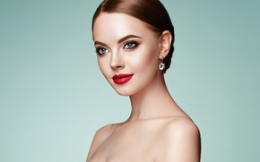 Picture girl, face, pose, model, portrait, makeup, photo session, photographer Oleg Gekman