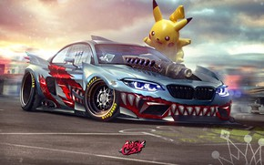 Picture Auto, BMW, Machine, Tuning, Teeth, Car, Art, Art, Pikachu, SPEEDHUNTERS, Transport & Vehicles, by Timothy …