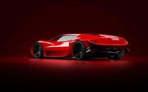Picture Red, Machine, Style, Background, Red, Car, Art, Render, Design, Supercar, Supercar, Sports car, Sportcar, Transport …