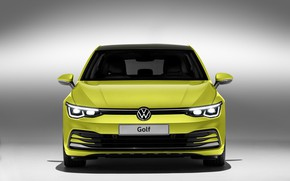Picture Volkswagen, side view, hatchback, Golf, hatchback, 2020