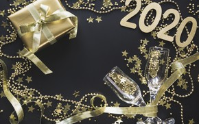 Picture background, holiday, new year, glasses, decoration, decor, 2020, Svetlana Cherruty
