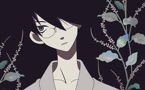 Picture leaves, guy, Sayonara Zetsubou Sensei, Farewell bleak Sensei