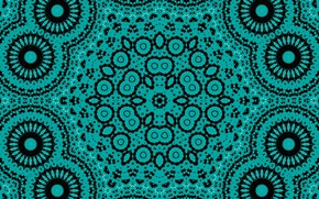 Picture flower, abstraction, pattern, green