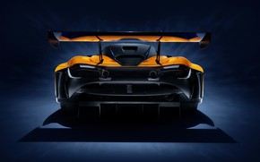 Picture McLaren, racing car, rear view, GT3, 720S, 2019