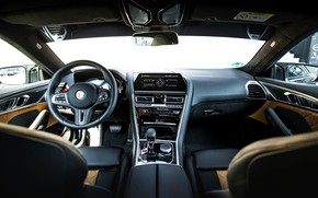Picture black, tuning, coupe, interior, BMW, Manhart, in the cabin, 2020, BMW M8, 4.4 L., two-door, …
