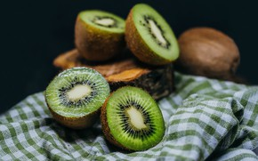 Picture kiwi, fruit, fabric, fruit, seeds