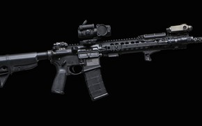 Picture weapons, background, AR-15, a semi-automatic rifle