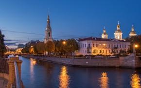 Picture the city, street, view, Peter, Saint Petersburg, Russia, architecture, megapolis, Leningrad, St. Nicholas Cathedral