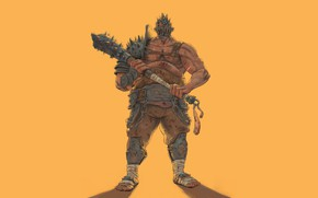 Picture Art, Gladiator, Weapons, Minimalism, Characters, Character, Costis Chatzidakis, Cudgel