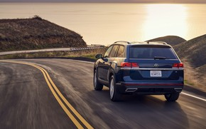 Picture Volkswagen, back, SUV, Atlas, 2020, 2021