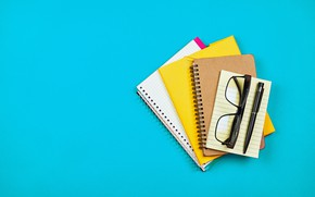 Picture background, glasses, handle, Notepad, notebook