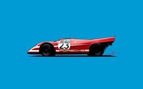 Picture Porsche, Red, Car, Minimalism, Transport & Vehicles, Porsche 917, 917, Oriol Folch, Porsche 917 number …