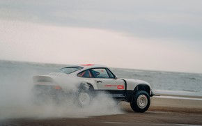 Picture water, squirt, shore, 911, Porsche, pond, 964, AWD, Singer, twin turbo, 2020, 2021, Singer Vehicle …