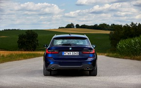Picture BMW, 3-series, universal, feed, dark blue, 3P, 2020, G21, 330d xDrive Touring