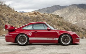 Picture red, coupe, 911, Porsche, side view, 993, 2017, Gunther Plant, 400R Coupe