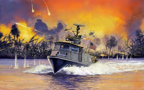 Picture USA, Daniel Fuss Is About, US NAVY, patrol boat, the Vietnam war, US Navy Swift …