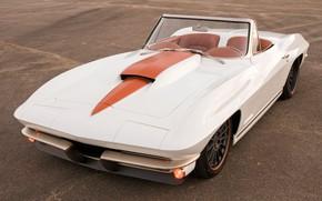 Picture Corvette, Chevrolet, White, Tuning