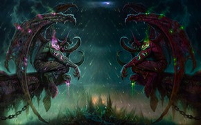 Picture fantasy, demons, World Of Warcraft
