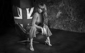 Picture Girl, chair, sitting, Anastasia Shcheglova, Alex Kashechkin