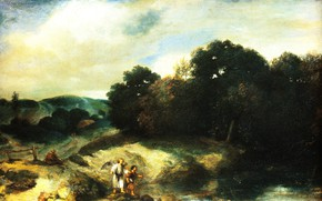 Picture picture, mythology, Jan Leavens, Jan Lievens, Landscape with Tavium and angel
