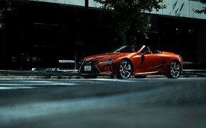 Picture the city, street, Lexus, convertible, 2021, LC 500 Convertible