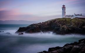 Picture sea, rocks, lighthouse