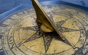 Picture vintage, sundial, copper