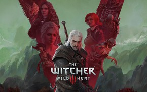 Picture game, the Witcher, games, rpg, Geralt, Triss, geralt, anniversary, cd project red, witcher 3, witcher …